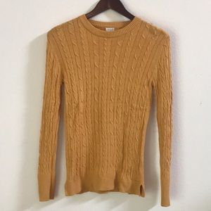 Mustard Yellow Cable Knit 🧶 Sweater - XS